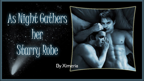 Cover for Night gathers her starry robe